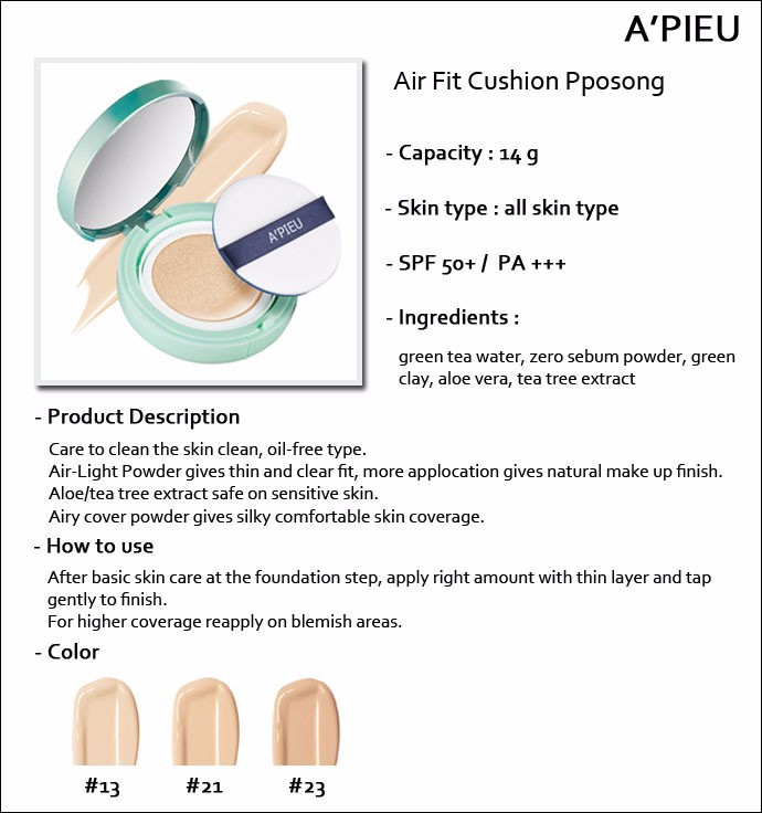 a'pieu air fit cushion pposong에 대한 이미지 검색결과
