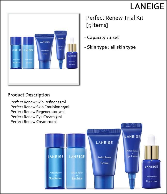 Картинки по запросу laneige perfect renew trial kit (5 items)