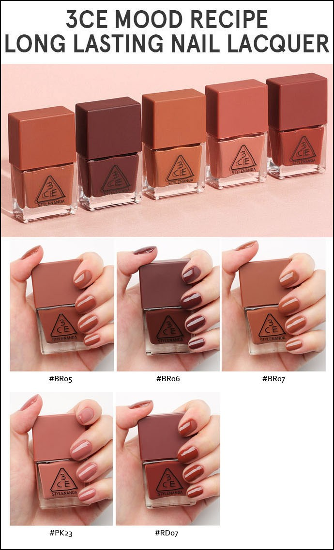 3CE MOOD RECIPE LONG LASTING NAIL LACQUER #BR06에 대한 이미지 검색결과