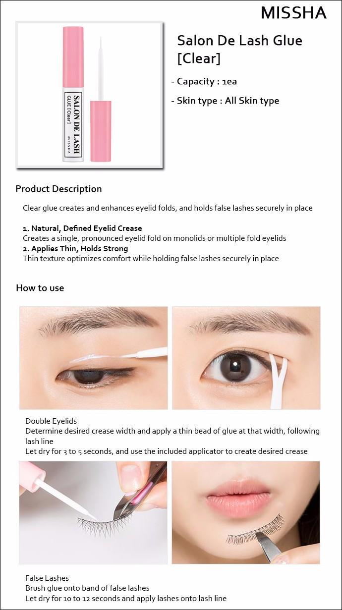 Missha Sale 35 Salon De Lash 5ml Glue Clear 3500 Won