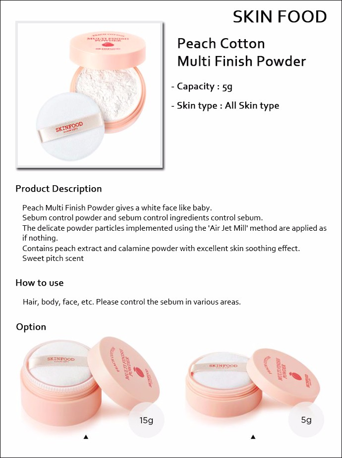 Image result for Skinfood Peach Cotton Multi Finish Powder