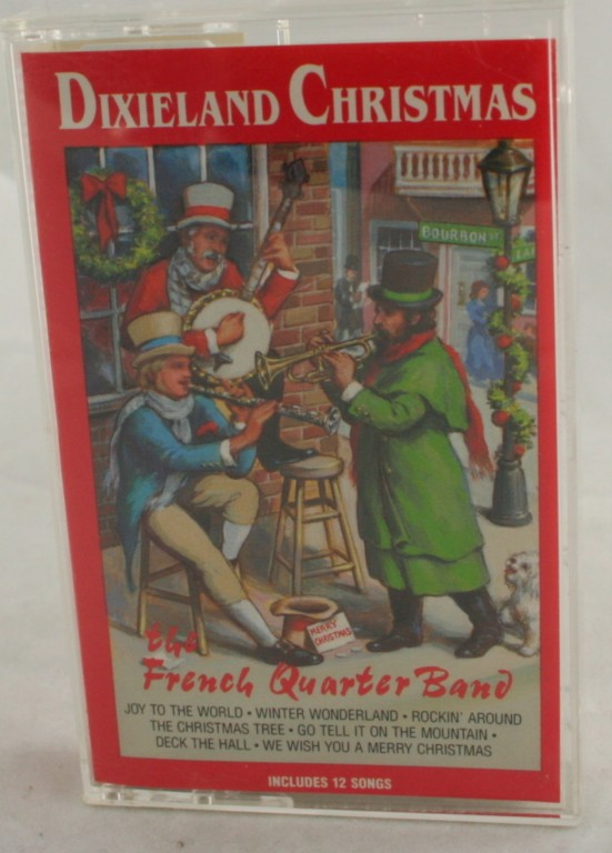 vintage cassette,audio,Dixieland Christmas, French Quarter Band,dixieland,jazz
