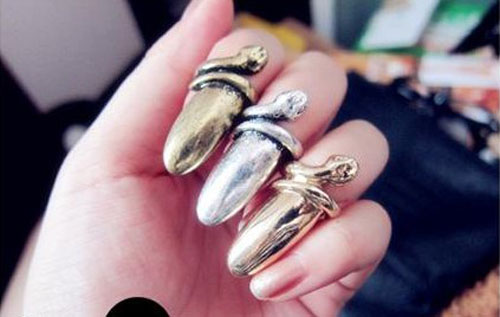 European-hot-sale-style-super-personality-snakeheads-fingernail-ring-Ring