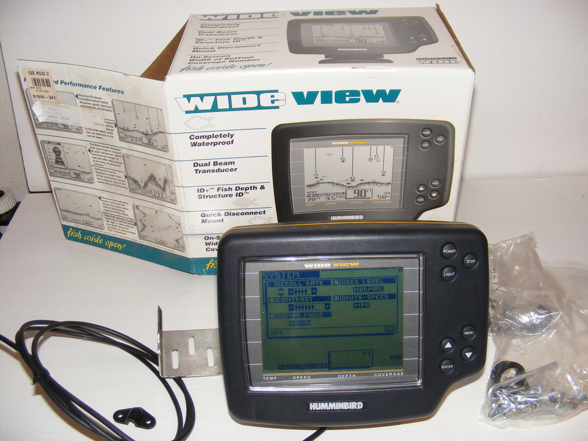 humminbird wide view fishfinder, head unit & box | ebay, Fish Finder