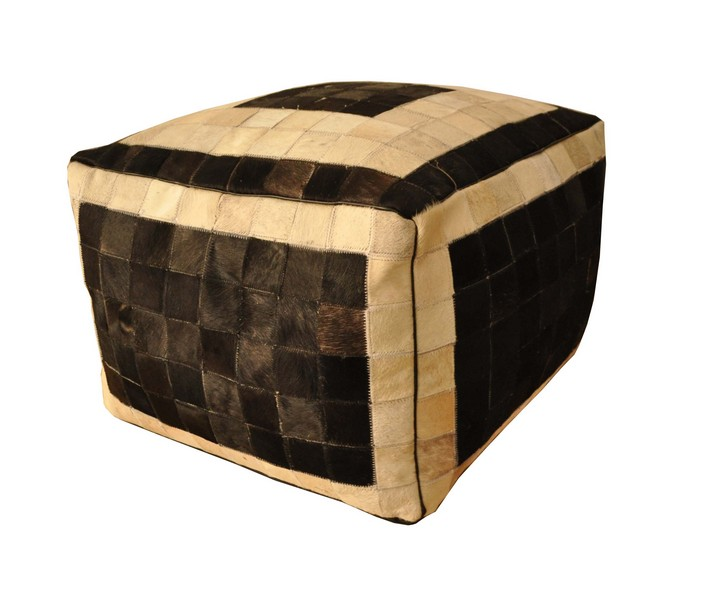 Leather Patchwork Ottoman