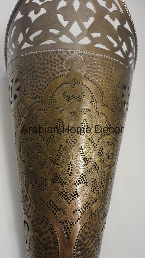 Unique Set of 2 Handcrafted Moroccan Brass Wall Sconce Light Lamp eBay