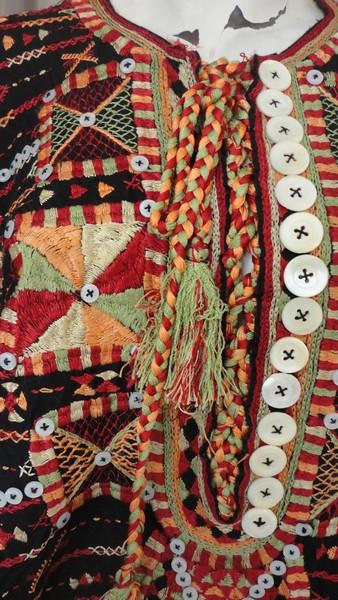 egyptian bedouin hand embroidered black wedding siwa dress