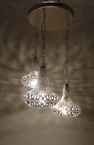 Moroccan Wall Lights Silver : Moroccan 3 in 1 Pendant Chandelier Lamp - Ceiling Light Fixture eBay