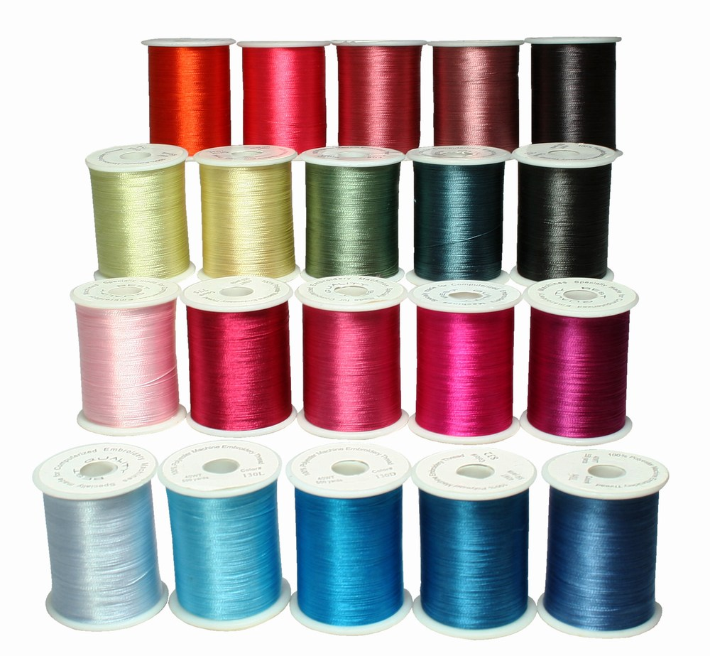 Choose your set poly machine embroidery threads for