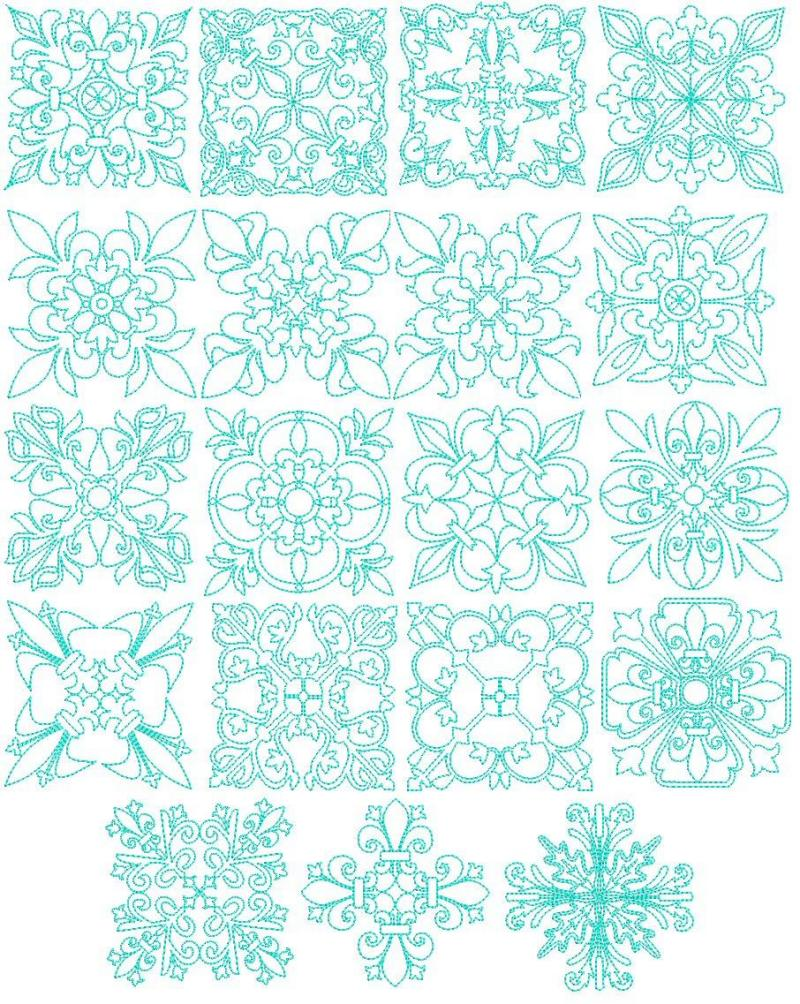 Janome Quilting Embroidery Designs : 19 Exotic Quilt Blocks #2 Machine Embroidery Designs 4x4 CD Brother, Janome etc eBay