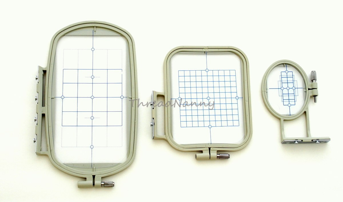 NEW 3-Piece Embroidery Hoop Set For Brother SE400 PE500 LB6800 Machines Free Su0026H | EBay
