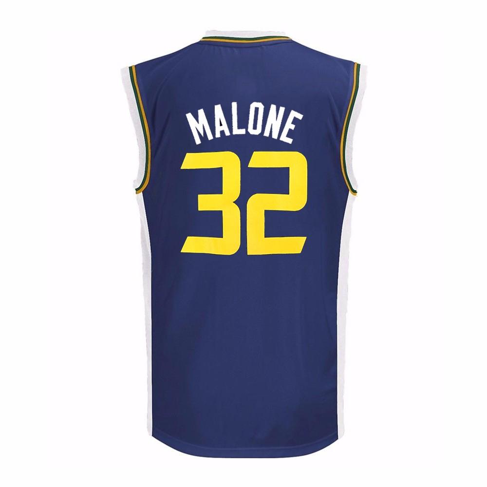25e42bfb73d7 Adidas Karl Malone Utah Jazz NBA Adidas Boys Navy Blue Official Road Replica  Basketball Jersey