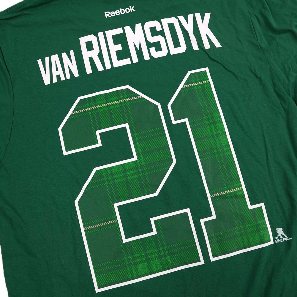 ... cheapest reebok reebok james van riemsdyk toronto maple leafs nhl  reebok green player jersey t shirt 0c364ef62