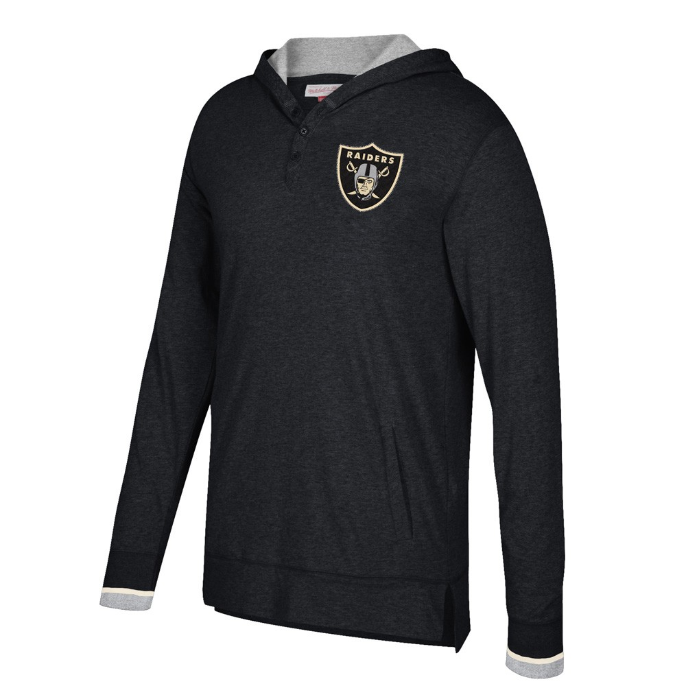 "NFL Mitchell & Ness ""Seal the Win"" Longsleeve Hooded Retro Shirt Men's"