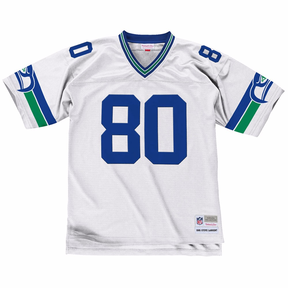 NFL-Mitchell-amp-Ness-Throwback-Player-Road-White-Legacy-Jersey-Collection-Men-039-s thumbnail 69