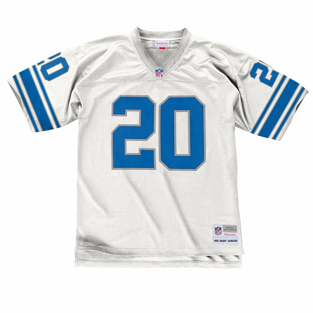 NFL-Mitchell-amp-Ness-Throwback-Player-Road-White-Legacy-Jersey-Collection-Men-039-s thumbnail 4