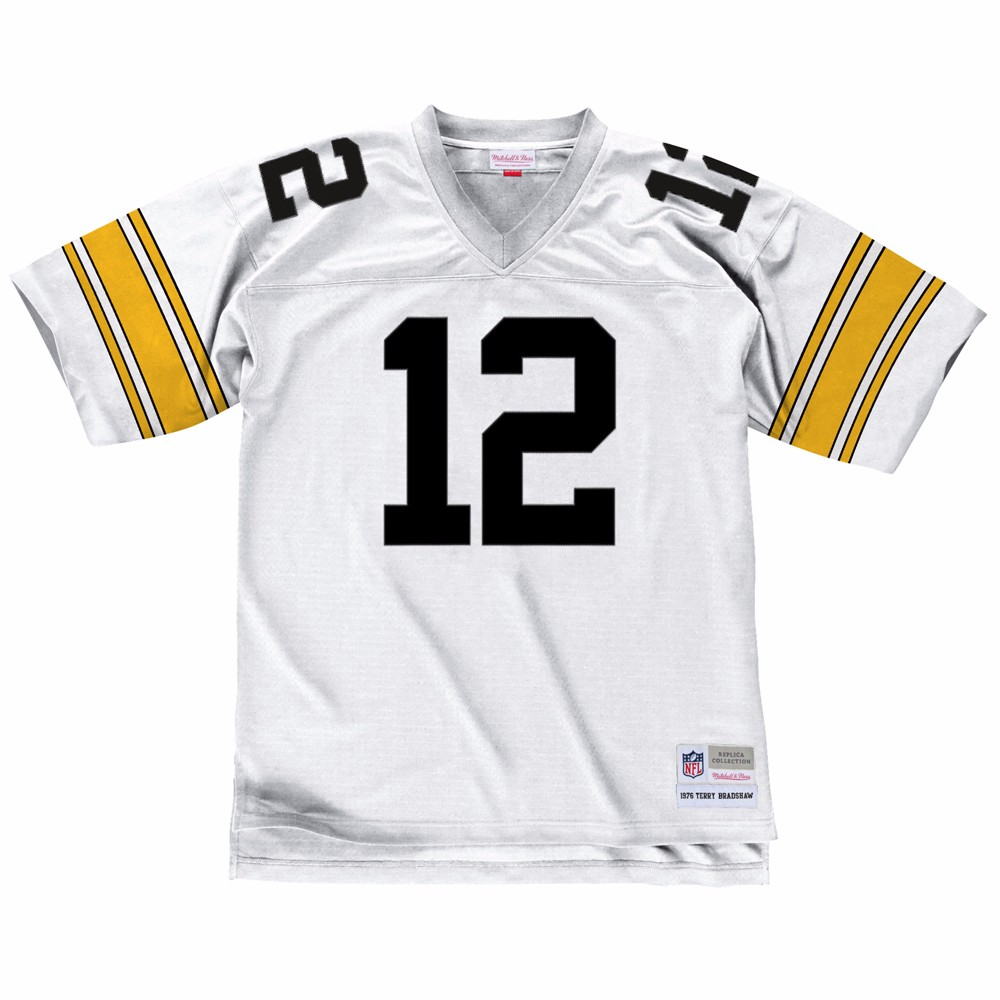 NFL-Mitchell-amp-Ness-Throwback-Player-Road-White-Legacy-Jersey-Collection-Men-039-s thumbnail 75