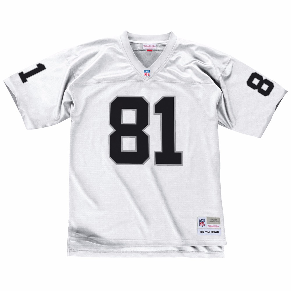 NFL-Mitchell-amp-Ness-Throwback-Player-Road-White-Legacy-Jersey-Collection-Men-039-s thumbnail 78