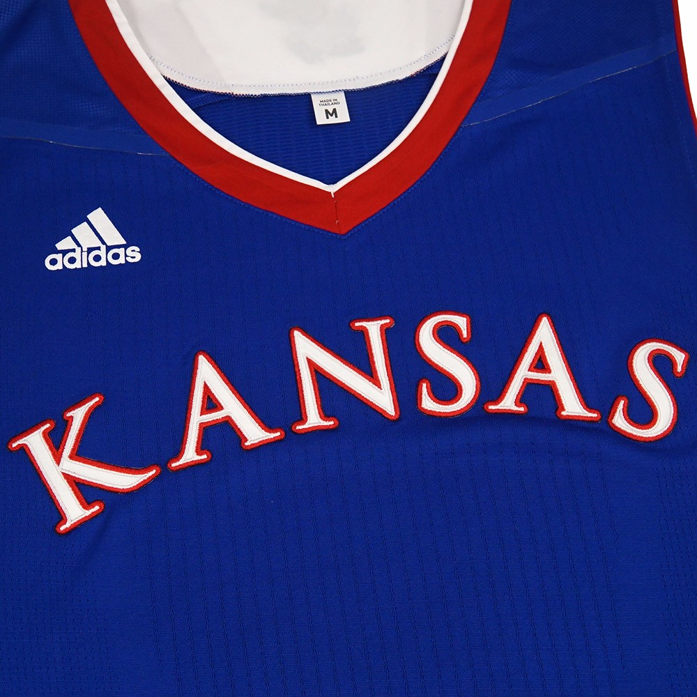 Kansas Jayhawks NCAA Authentic On-Court Pro Cut Jersey Men/'s