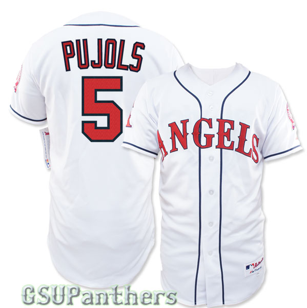 Albert Pujols 1990 Authentic Collection California Angels Home Jersey