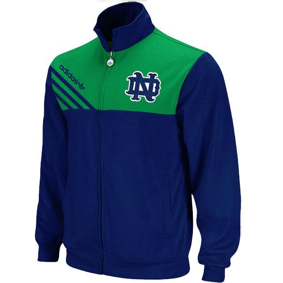 Notre Dame Fighting Irish ADIDAS Celebration Track Jacket Mens SZ (S