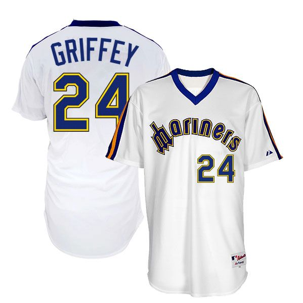 Ken Griffey Jr Authentic 1983 Seattle Mariners Throwback ...