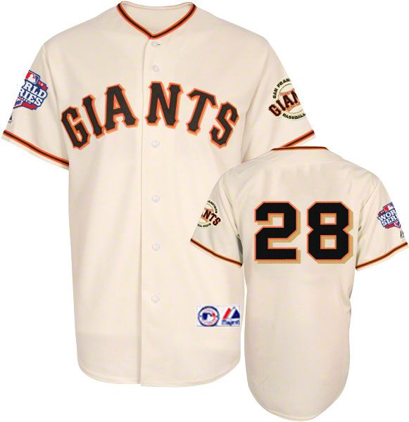 Buster Posey 2012 San Francisco Giants World Series Home Jersey Sz M
