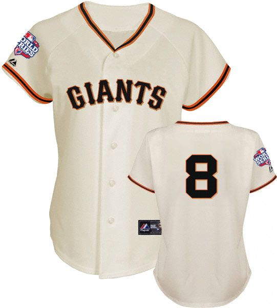 Hunter Pence 2012 San Francisco Giants World Series Home Jersey Women