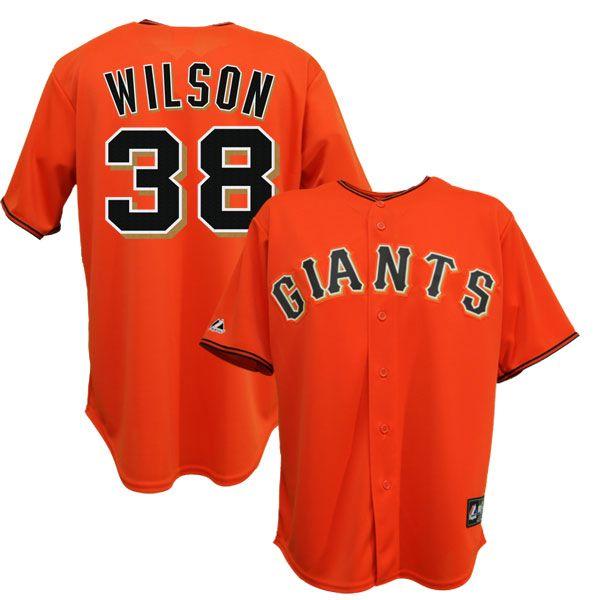 Brian Wilson San Francisco Giants Alternate Orange Jersey Mens Sz M