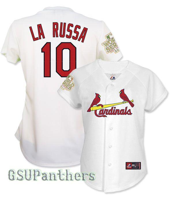 Tony LaRussa 2011 St Louis Cardinals World Series Home Womens Jersey
