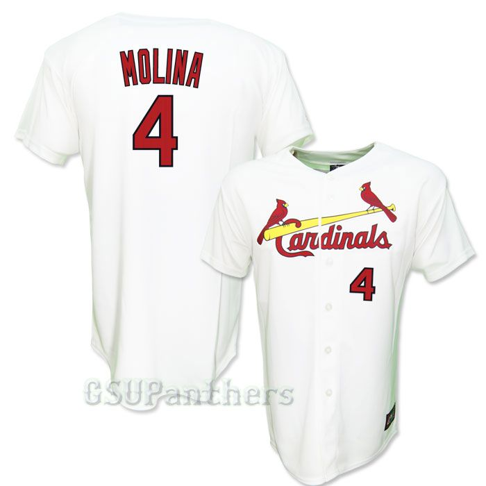 Yadier Molina St Louis Cardinals Youth Home Replica Sewn Jersey Sz M