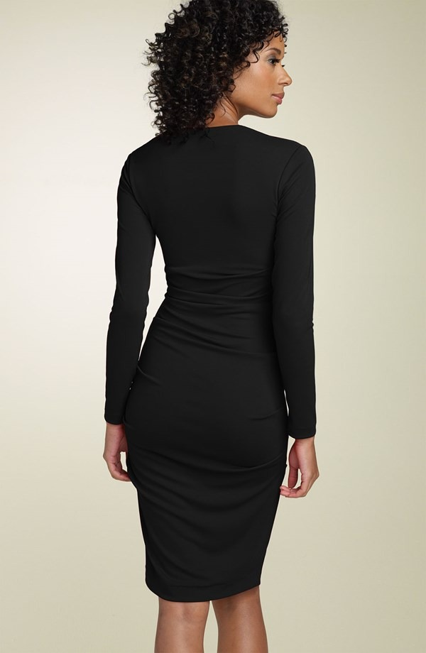 Nicole p black dress 2 piece