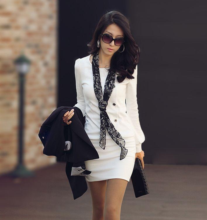 Осень/зима 2012 новый пять кнопку self женская платье с длинным рукавом.
