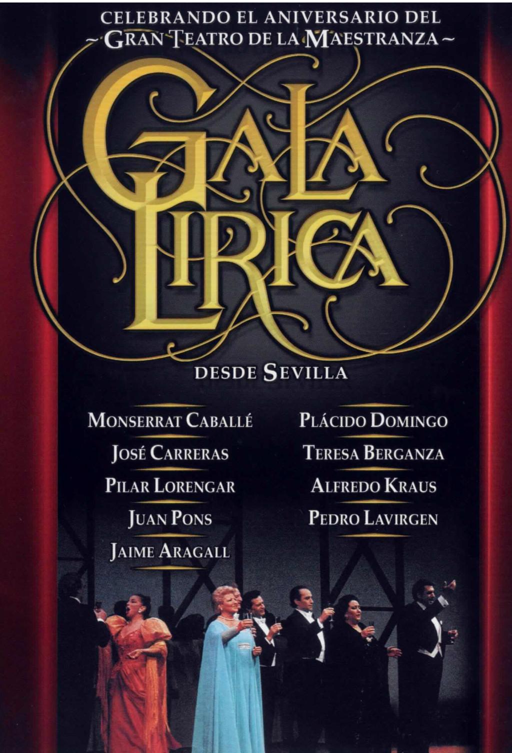 GALA-LIRICA-Desde-Sevilla-CD-DVD-NEW-Caballe-Domingo-Carreras-Aragall