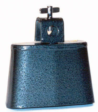 POWERBEAT-Cowbell-2-Steel-Black-Pewter-Finish-NEW-Thumbscrew-Mount