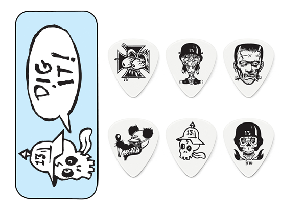 Jim-Dunlop-Frank-Kozik-Dig-It-Pick-Tin-6-x-Tortex-73mm-Guitar-Picks-NEW
