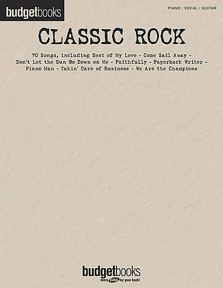 BUDGET-BOOKS-Classic-Rock-Songs-PVG-Book-NEW-Sheet-Music-Piano-Vocal-Guitar
