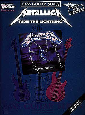METALLICA-Ride-The-Lightning-Bass-Guitar-TAB-Book-NEW-Music-Lyrics