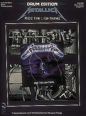 METALLICA-Ride-The-Lightning-Drum-Edition-Book-NEW-Music-Lyrics