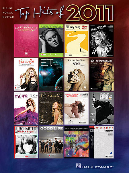 TOP-HITS-OF-2011-PVG-Book-NEW-Piano-Vocal-Guitar-Music-Inc-Adele-Coldplay