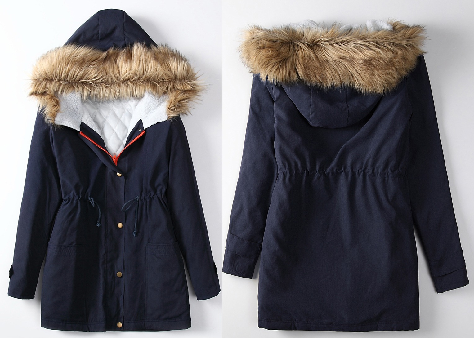Blue Parka Coat - Coat See