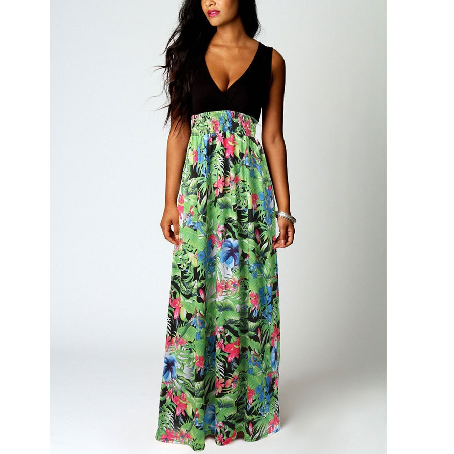NEW Ladies Womens Maxi Boho Summer Long Skirt Evening Cocktail Party Dress PLUS