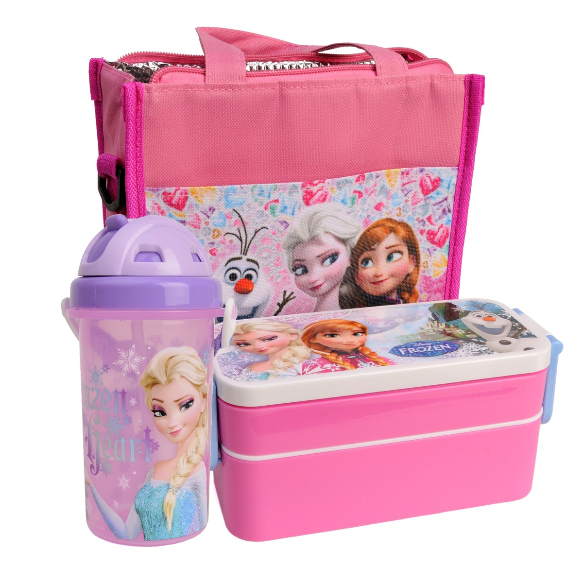 disney frozen girls kids school picnic insulated lunch box. Black Bedroom Furniture Sets. Home Design Ideas