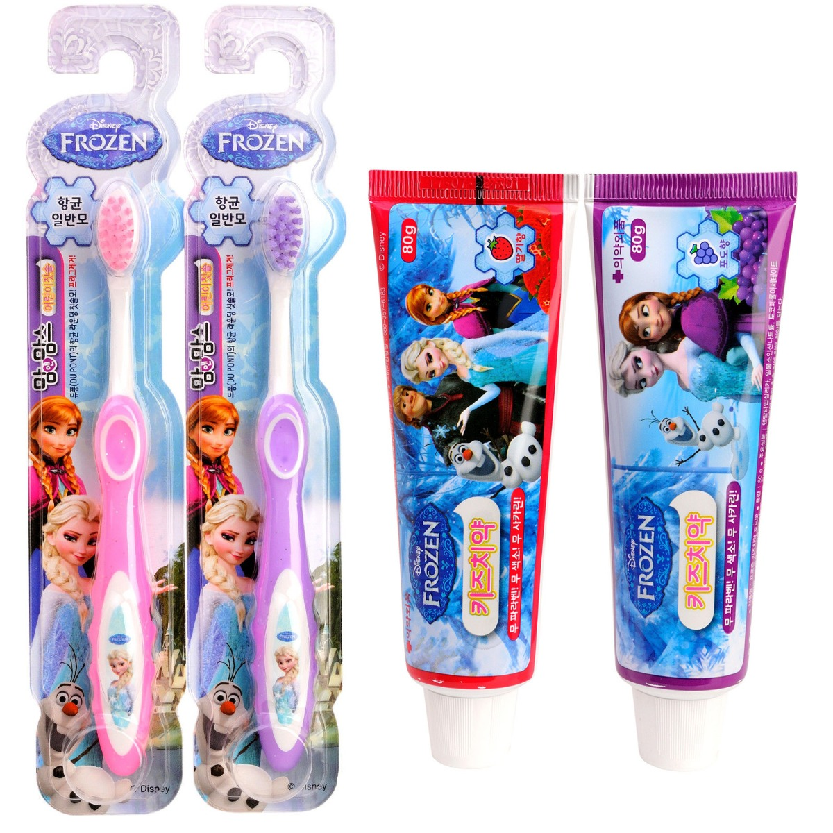 Kids Toothpaste And Toothbrush Congelato Set Spazzoli...
