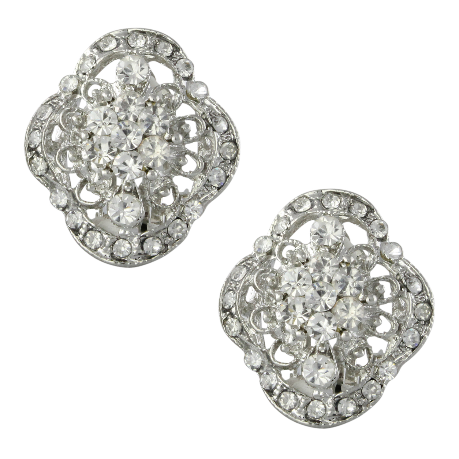 Art Deco Duchess Clip On Earrings