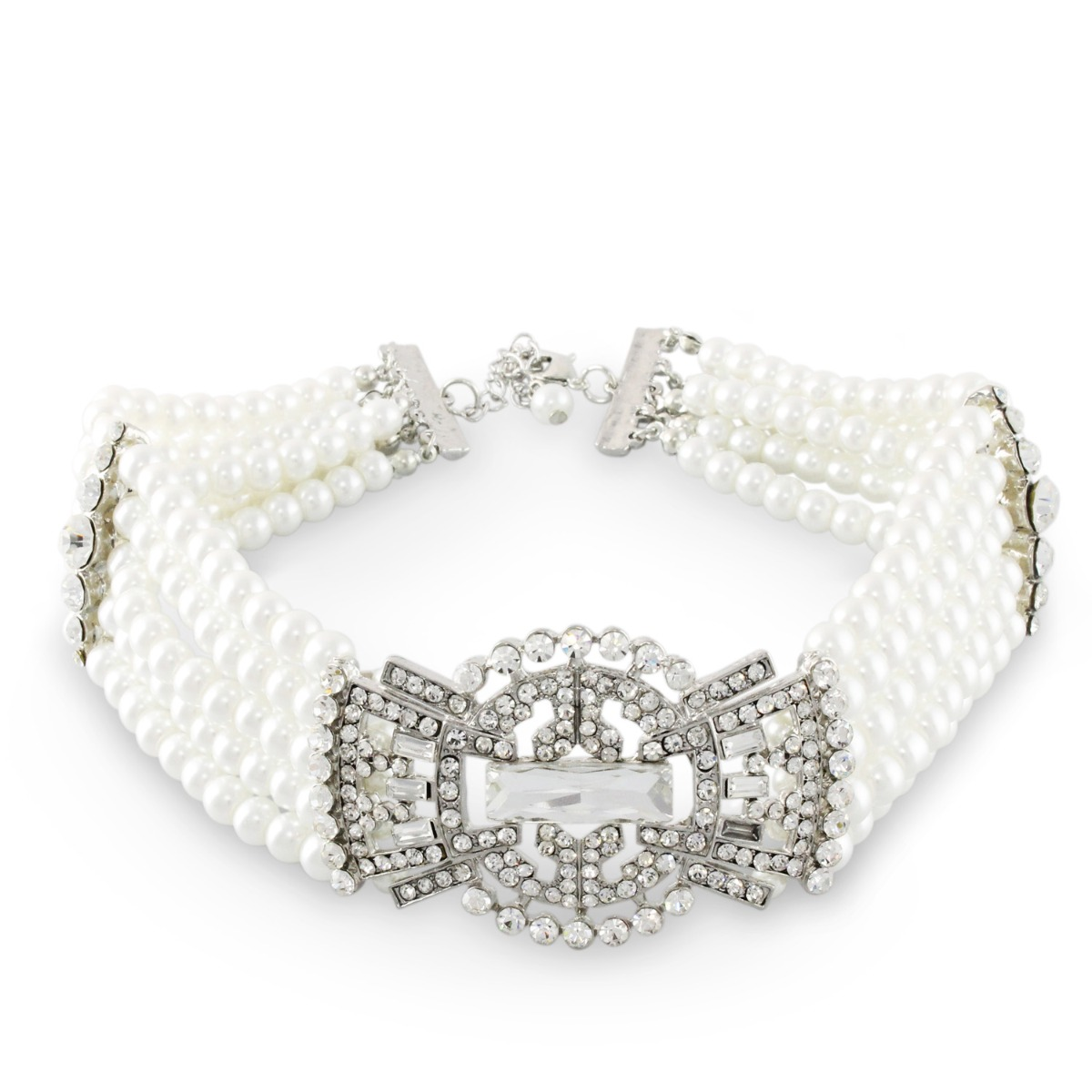 Pearl Collar Art Deco Necklace