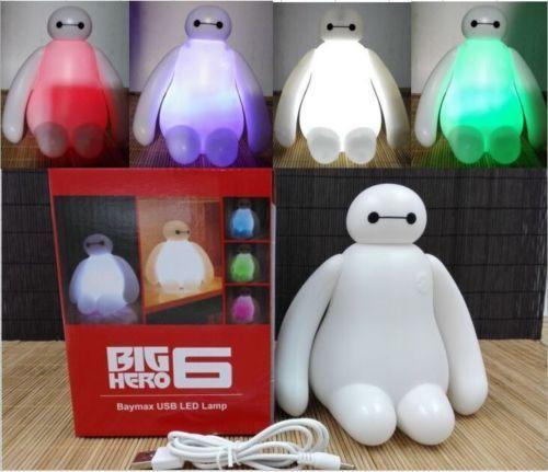 New Big Hero 6 Baymax Action Color Changing USB Night Light LED ...
