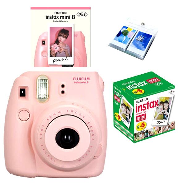 Fujifilm Fuji Instax Mini 8 Polaroid Instant Camera + 50 Film + ...