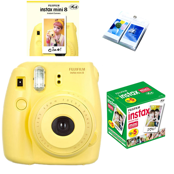 fujifilm fuji instax mini 8 polaroid instant camera 50 film photo album ebay. Black Bedroom Furniture Sets. Home Design Ideas