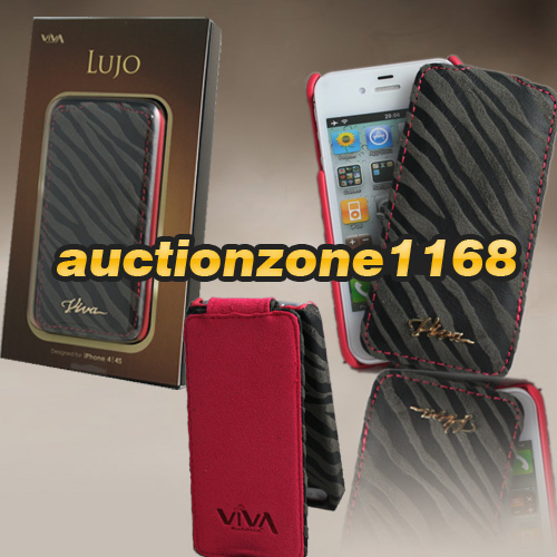 1215-Viva-Lujo-Genuine-Real-Leather-Zebra-Cebra-Flip-Case-Cover-for-iPhone-4-4S